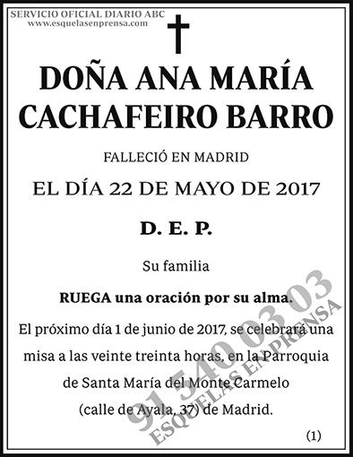 Ana María Cachafeiro Barro